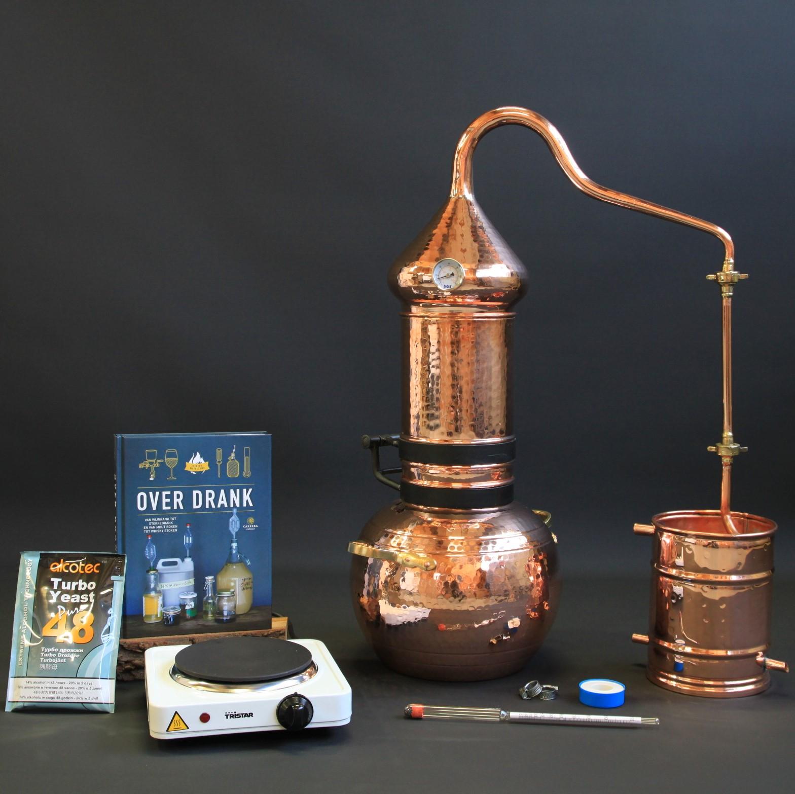 Complete Set Roodkoperen Kolom Distilleerketel | drank stoken