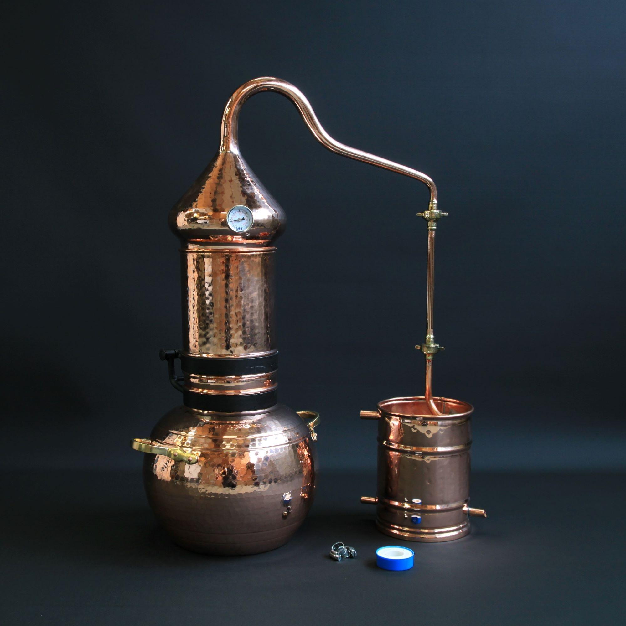 Roodkoperen Kolom Distilleerketel | drank stoken