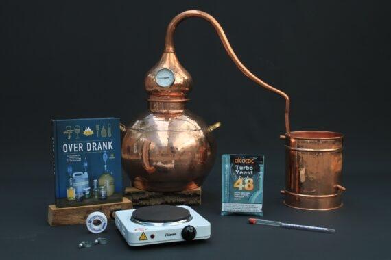 Complete set Moonshine alambiek destilleerketel